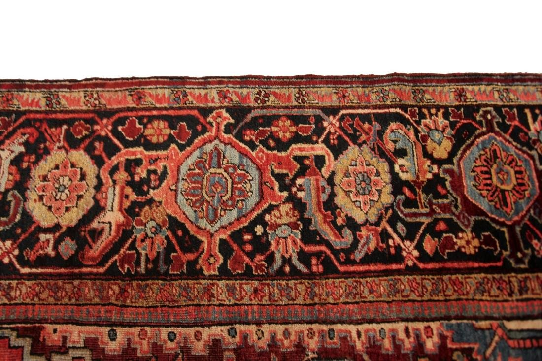 11'X19' Authentic Antique Persian Heriz Serapi Rug Fine - 7