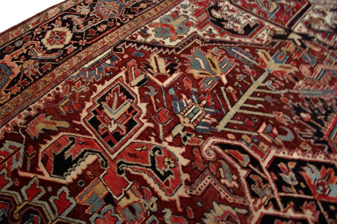 11'X19' Authentic Antique Persian Heriz Serapi Rug Fine - 8