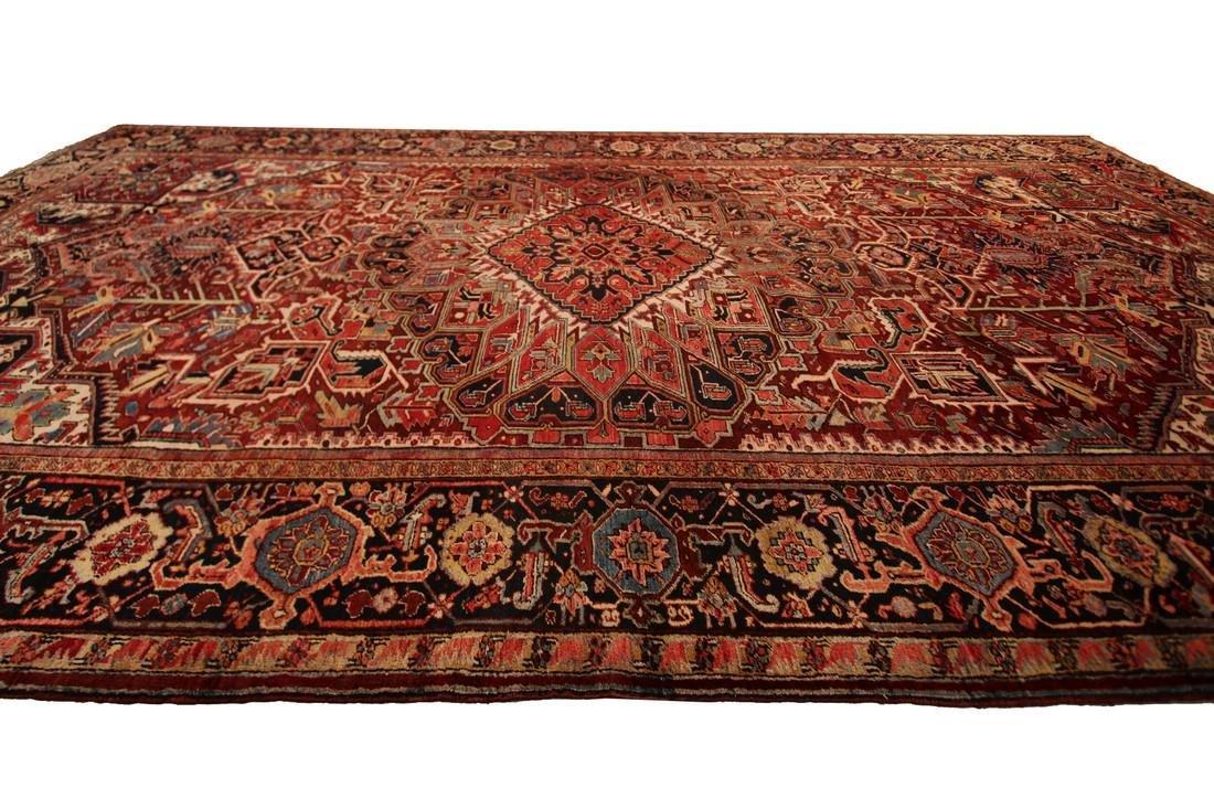 11'X19' Authentic Antique Persian Heriz Serapi Rug Fine - 9