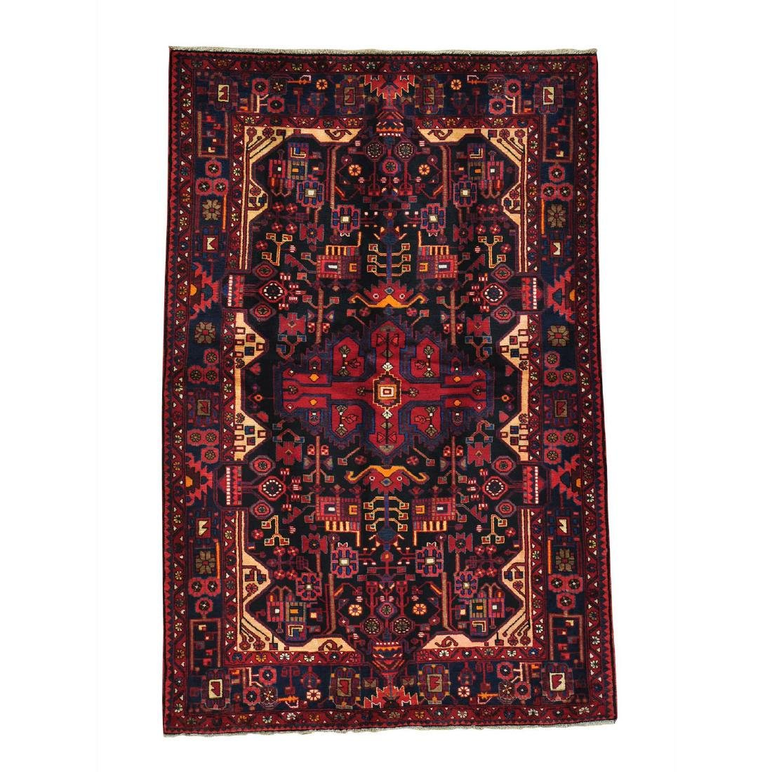 Persian Nahavand Full Pile Hand Knotted Oriental Rug