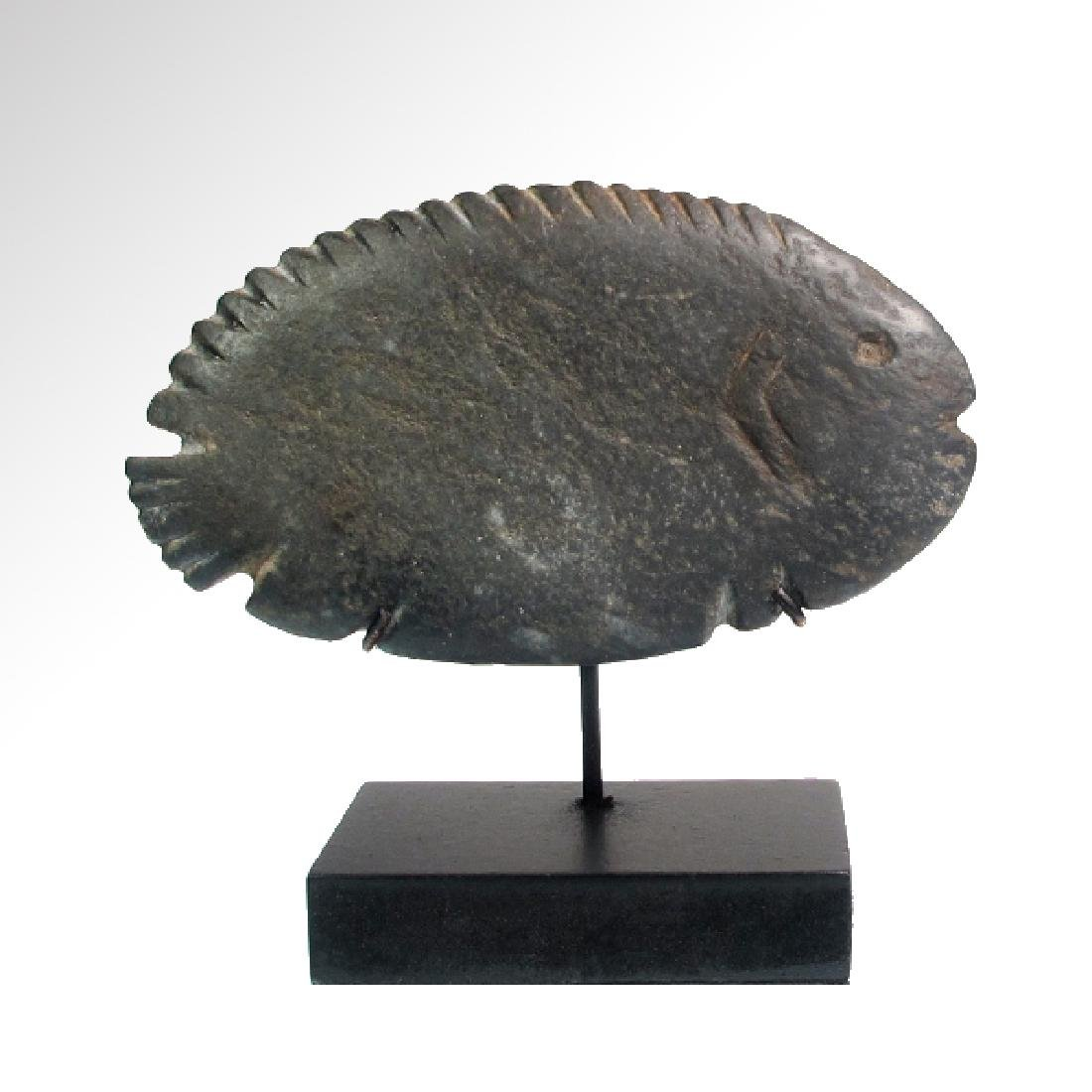 Egyptian Schist Palette in the form of a Fish, Naqqada