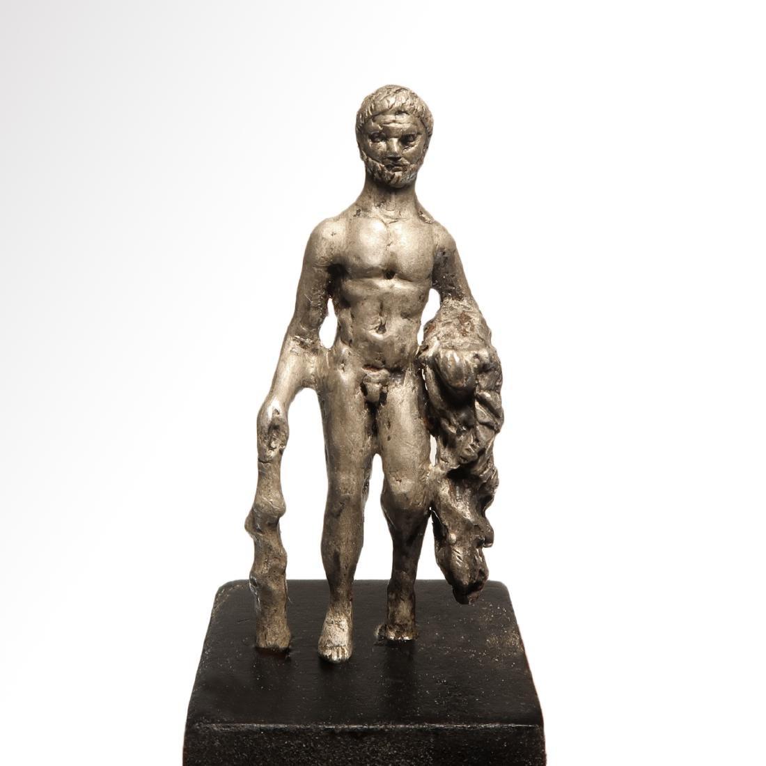 Roman Silver Hercules Figure, c. 1st Century B.C.-1st