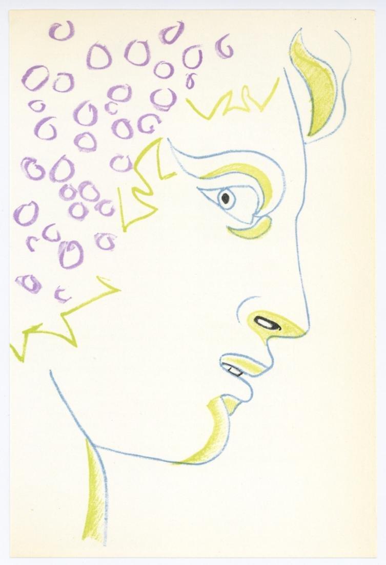 Jean Cocteau original lithograph   Bacchus