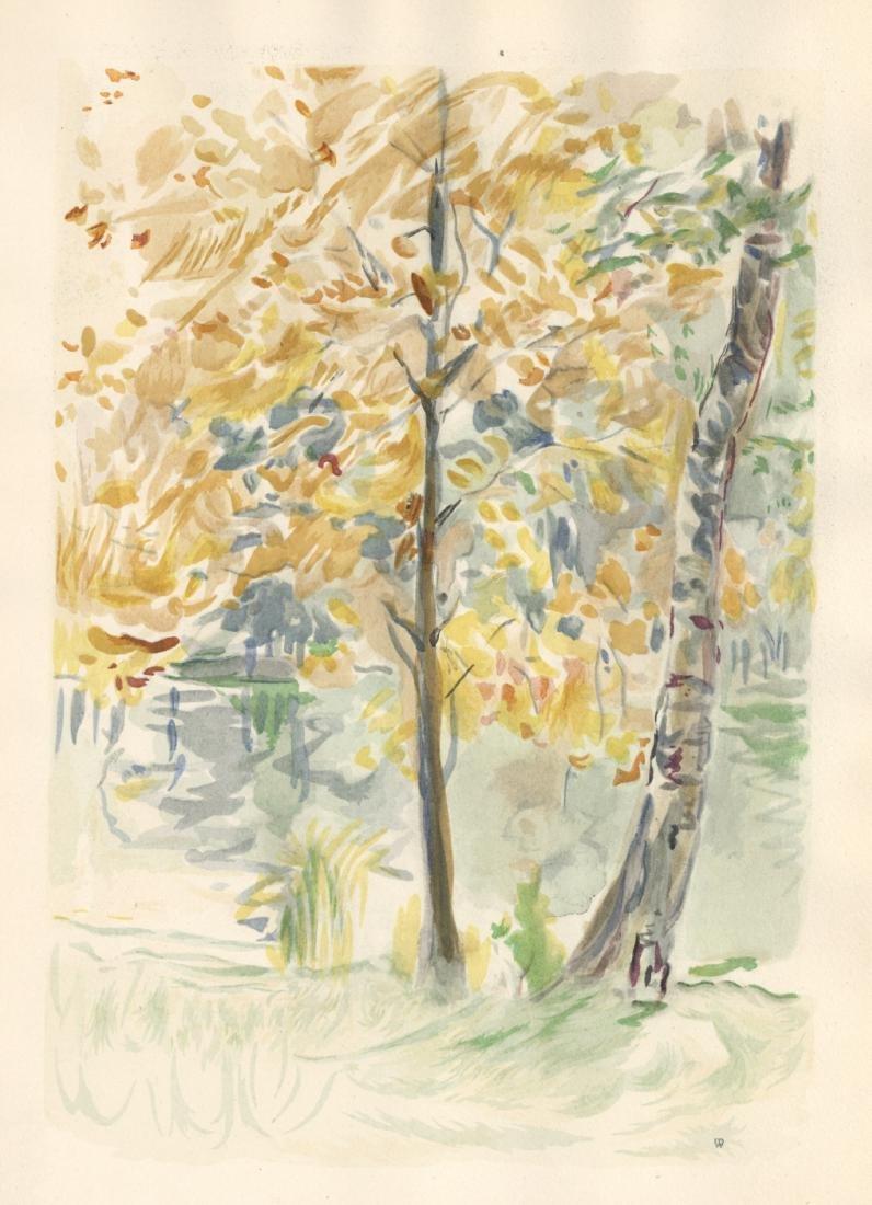 "Berthe Morisot pochoir ""Arbres roux"""