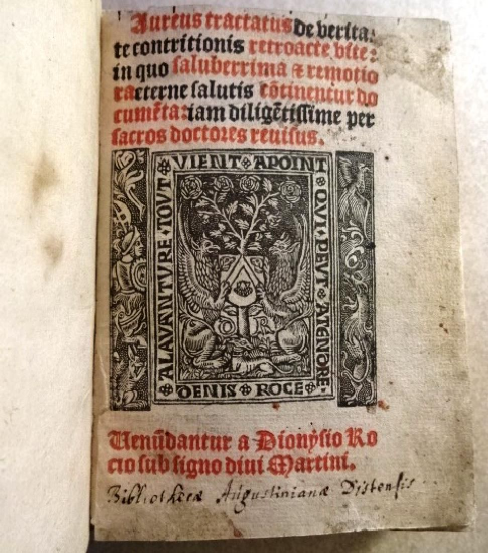 1518 Beautiful Vivaldi French Early Printed Book