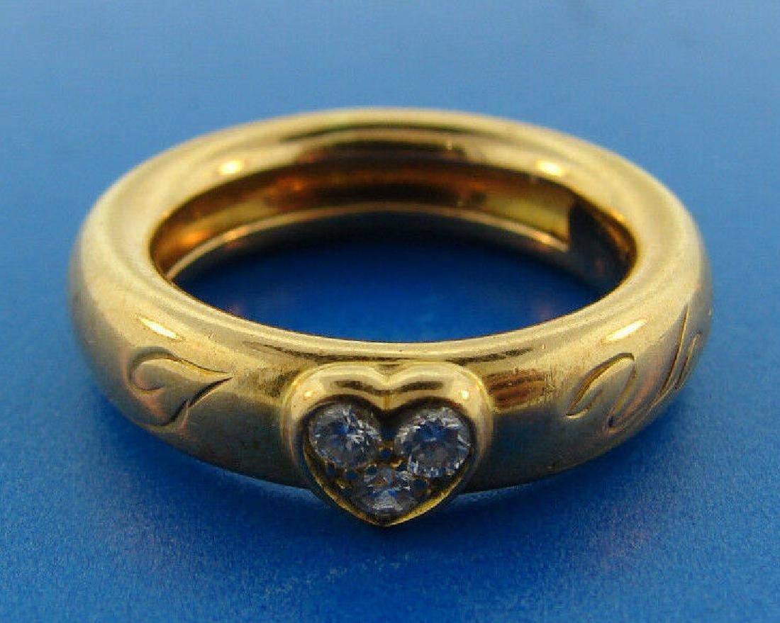 CUTE Tiffany & Co. 18k Yellow Gold & Diamond I Heart