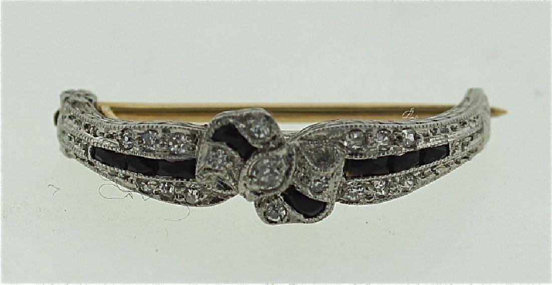 SUPERB WORKMANSHIP C.1910 MARCUS PLATINUM DIAMOND ONYX