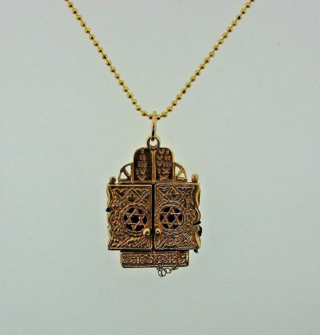 TIMELESS 14k Yellow Gold Mechanical Judaica Necklace