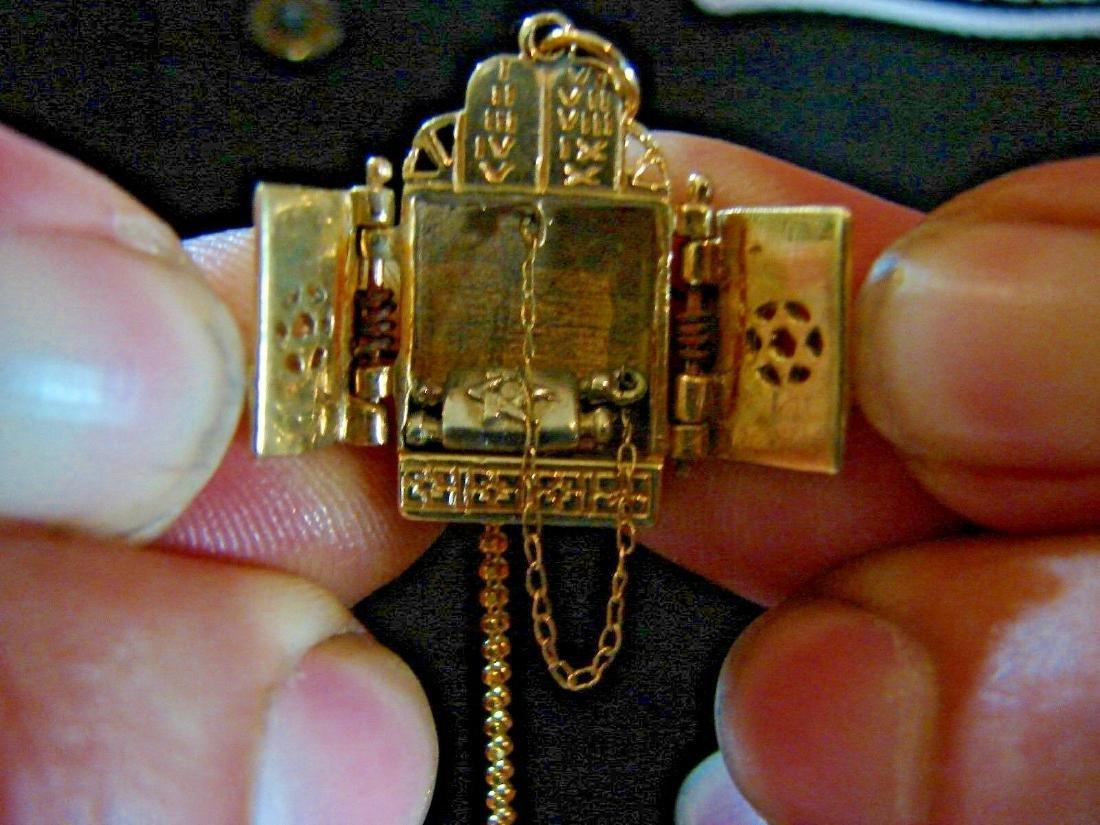 TIMELESS 14k Yellow Gold Mechanical Judaica Necklace - 4