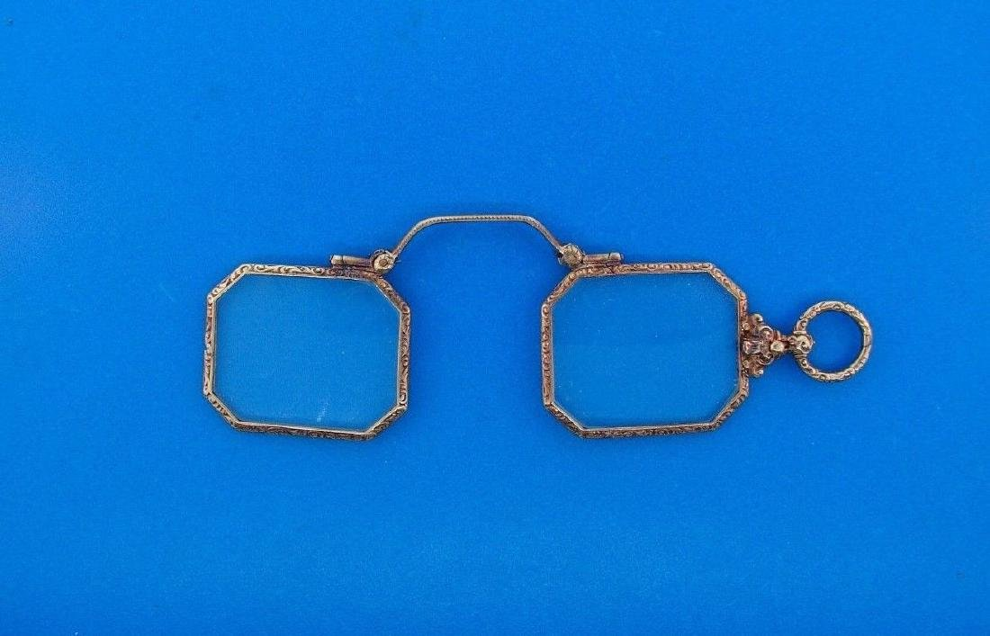 TIMELESS Victorian 14k Yellow Gold Lorgnette Glasses - 3