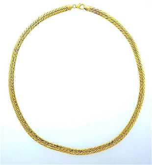 42d1555c4aaa 14 Karat Gold Italian Link Chain Necklace with Cross