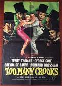 TOO MANY CROOKS – 1958 C.O.O. ENGLISH ONE SHEET POSTER