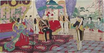 MEIJI Nobukazu: Emperor and Empress Meiji