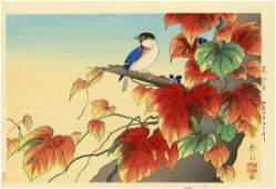 Gakusui Ide  Japanese Ivy and Titmouse