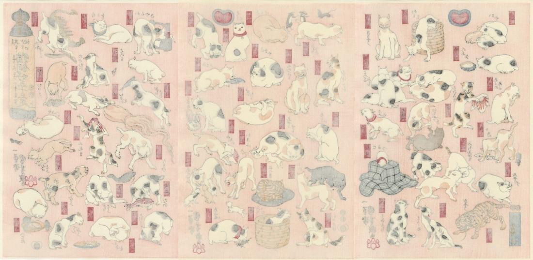 Kuniyoshi Utagawa - Cats of the Tokaido Road Woodblock - 5