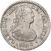 Spain 1800 Carlos Iv 1 Real Mejico Fm Silver Coin