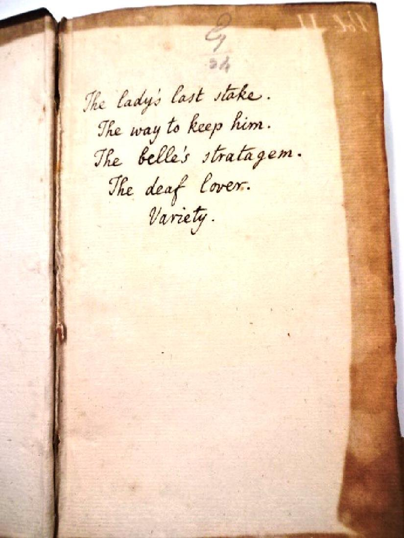 18th C Leather Bound English Plays - 3