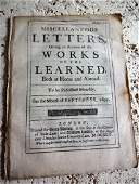 1695 English Periodical Miscellaneous Letters