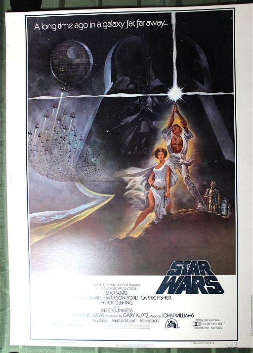 Star Wars 20th Century Fox 1977 30 40 Movie Poster Feb 19 2019 Jasper52 In Ny