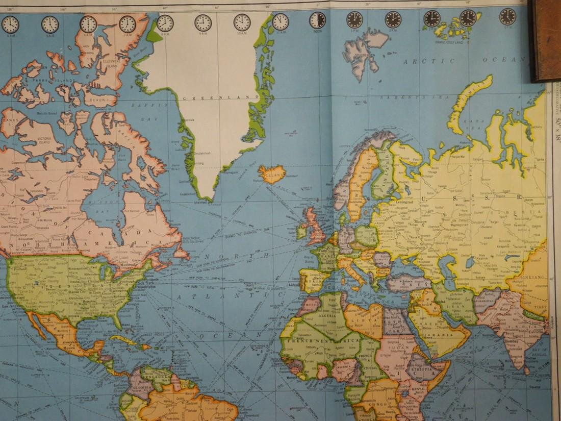 Colorprint General Map of the World On Mercator's - 7