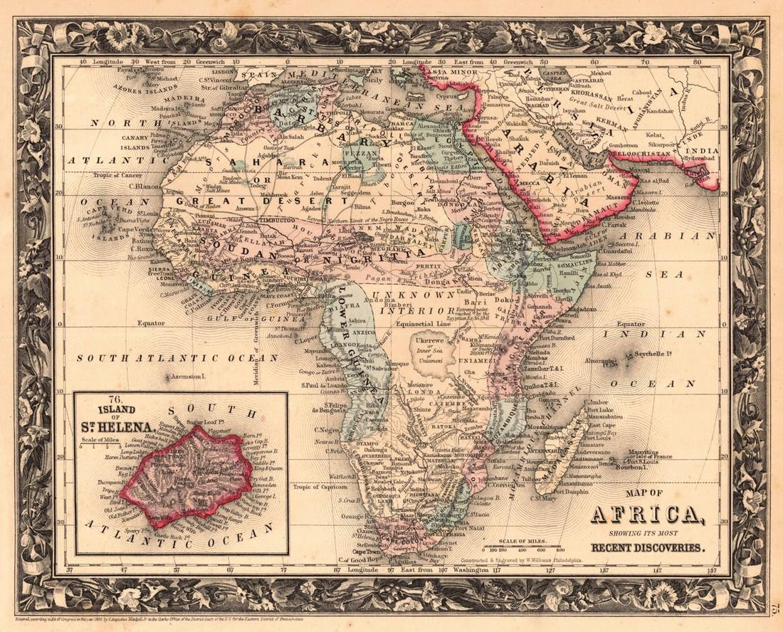 Map of Africa, Showing Its Most Recent Discoveries.