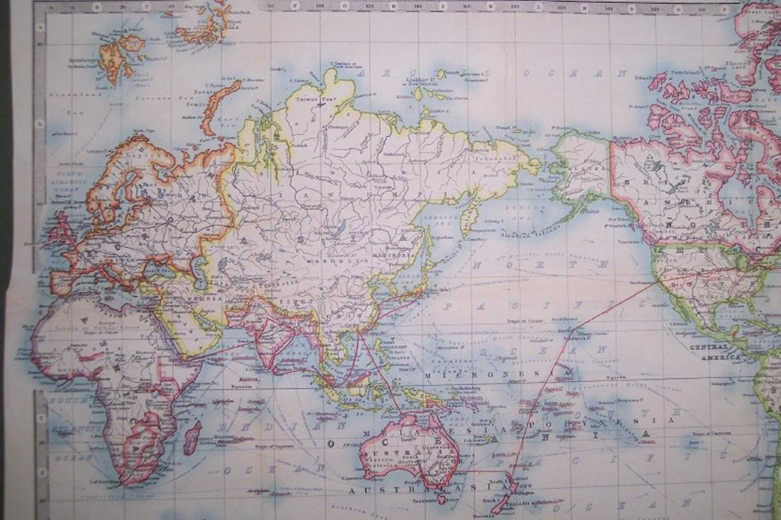 Map of the World On Mercator's Projection - 3