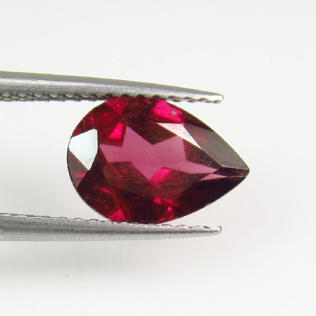 2.07 Ct Genuine Pink Rhodolite Garnet 10X7 mm Pear Cut
