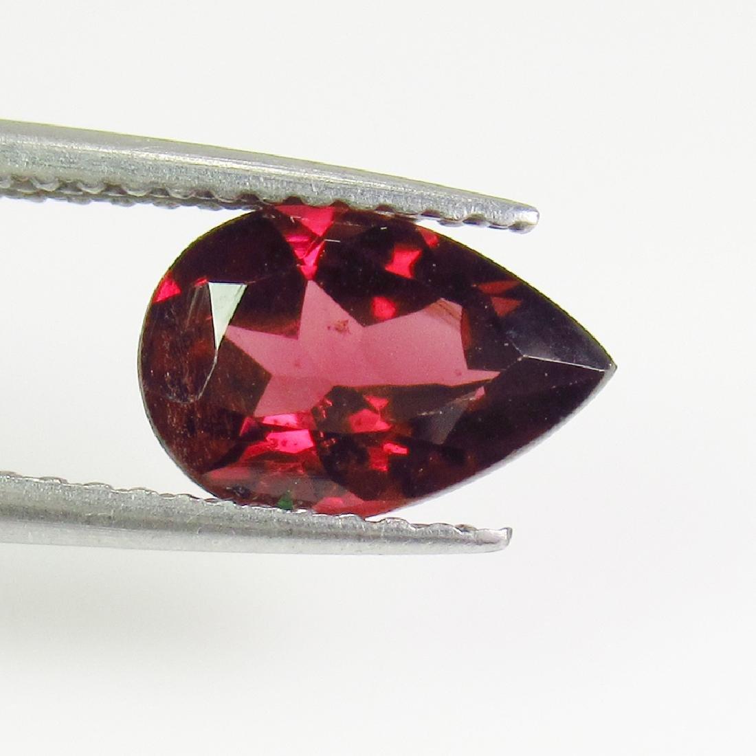 1.58 Ctw Natural Pink Rhodolite Garnet 9X6 mm Pear Cut