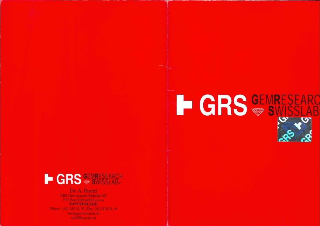 GRS Certified 2.06 Carat Oval Shaped Unheated VVS - 6