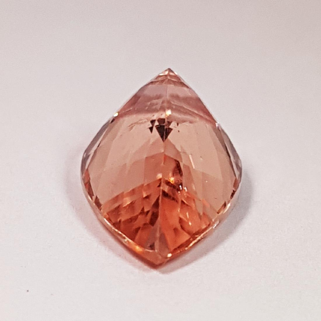 """7.22 ct """"IGI Certified"""" Excellent Pink Pear Cut Natural - 3"""