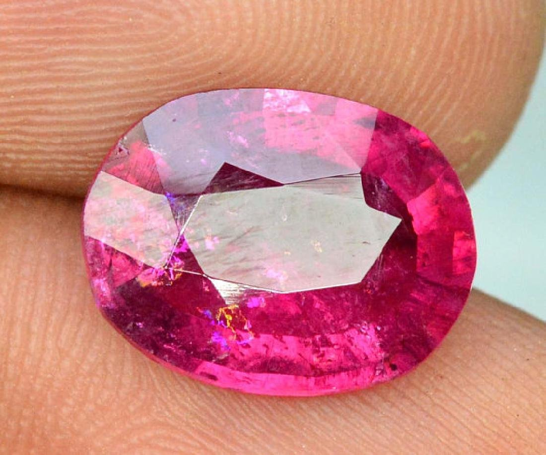3.55 cts Natural Untreated Rubelite Tourmaline from - 5