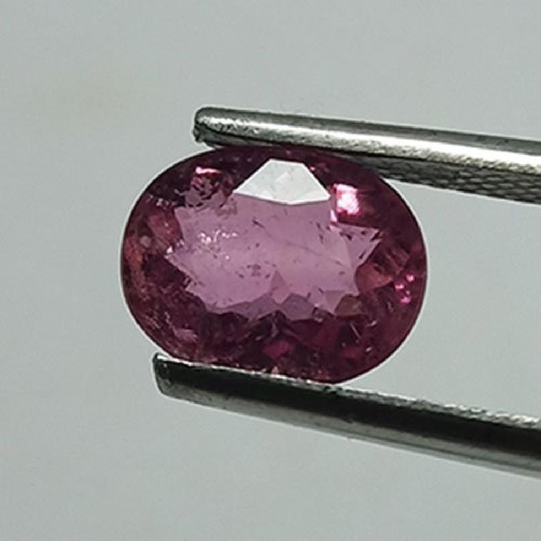 1.55 CTS NATURAL PINK TOURMALINE OVAL SHAPE LOOSE