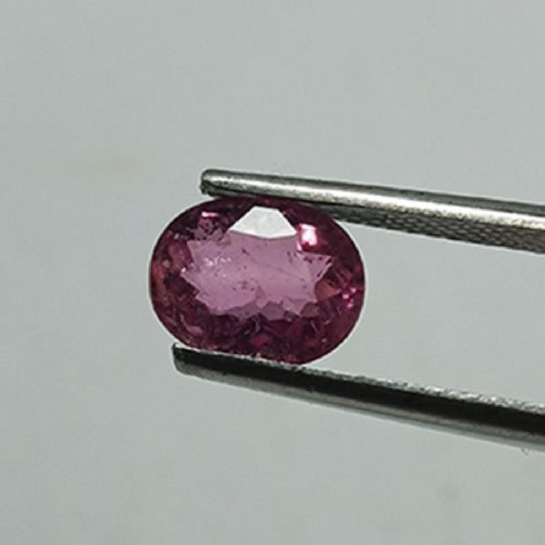 1.55 CTS NATURAL PINK TOURMALINE OVAL SHAPE LOOSE - 3