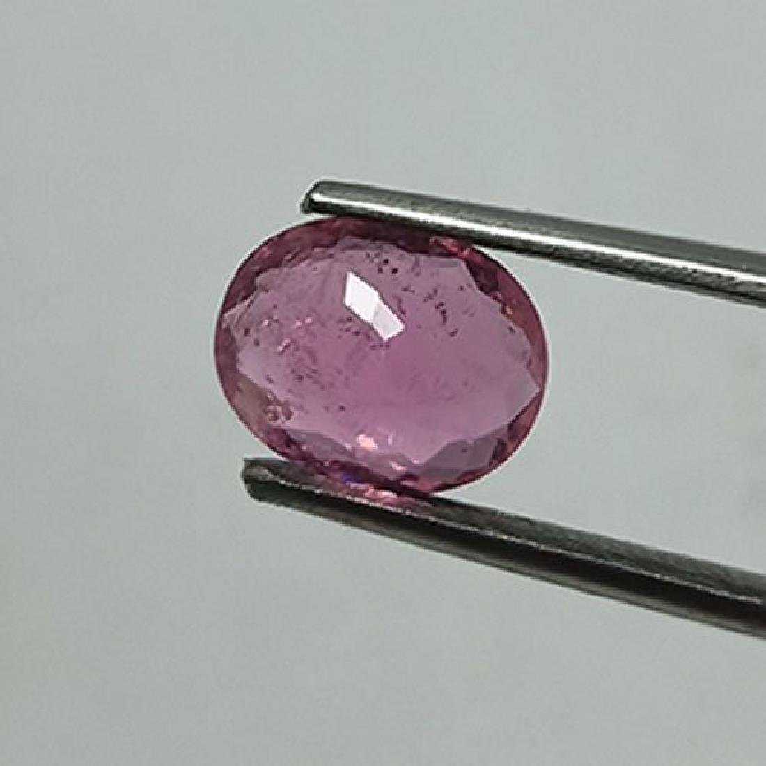 1.55 CTS NATURAL PINK TOURMALINE OVAL SHAPE LOOSE - 4