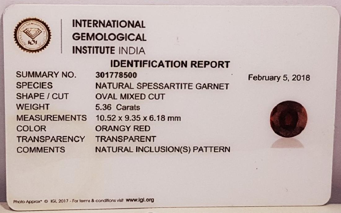"5.36 Ct "" IGI Certified "" Top Quality Gem Oval Cut - 7"