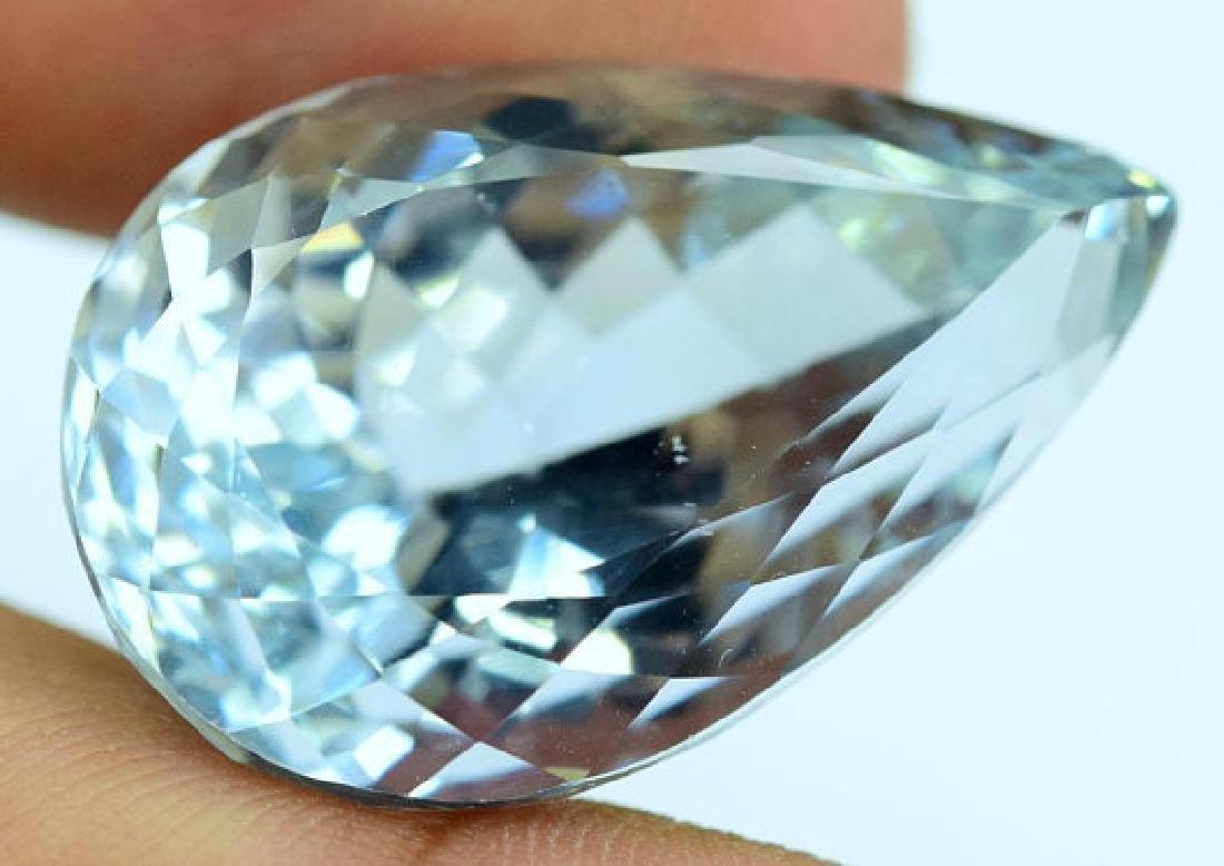 44.40 carats Pear Cut Aqua Color Natural Spodumene