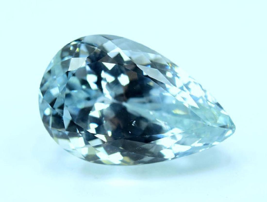 44.40 carats Pear Cut Aqua Color Natural Spodumene - 2