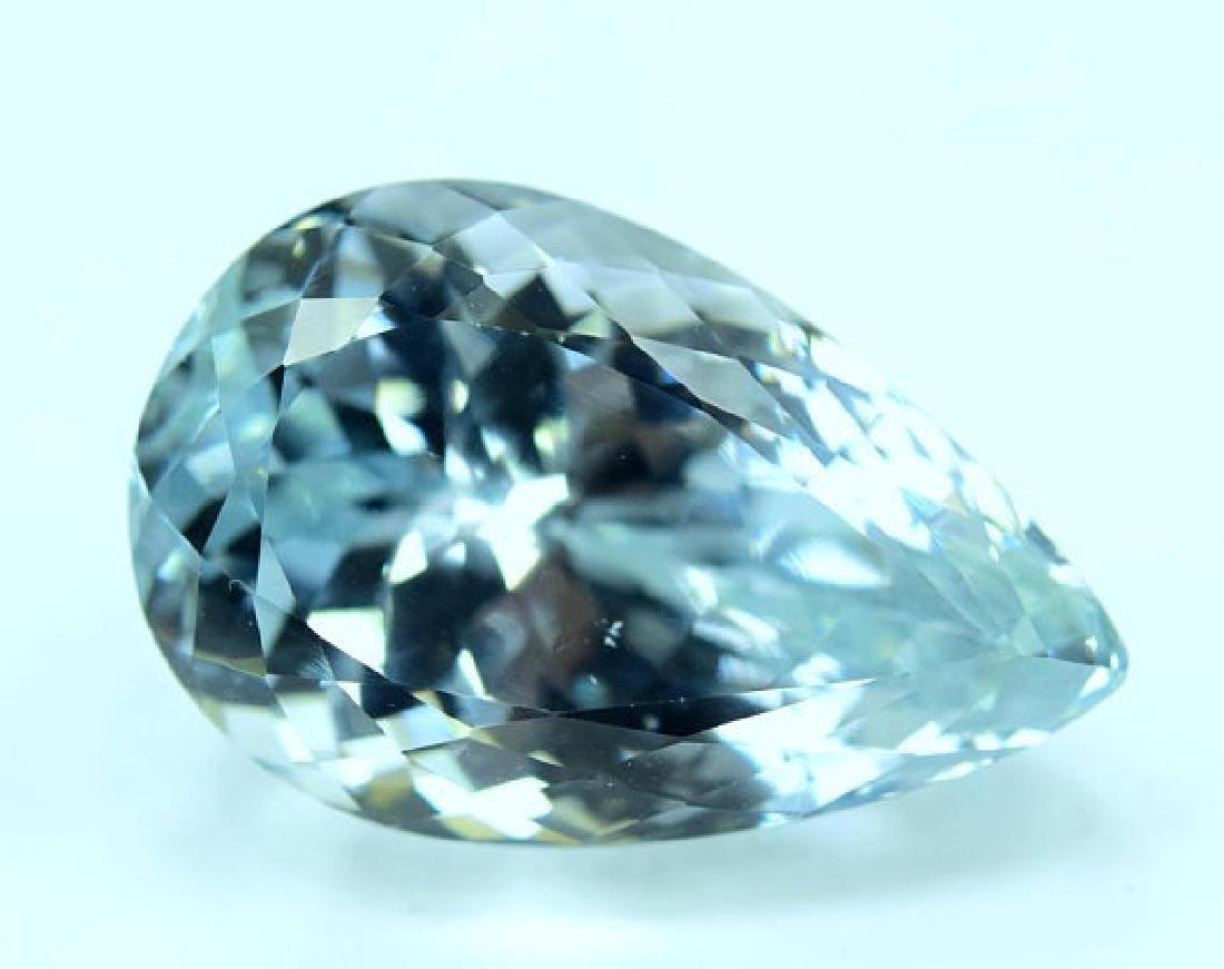 44.40 carats Pear Cut Aqua Color Natural Spodumene - 3