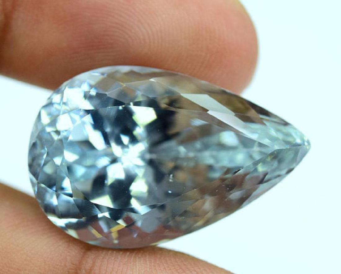 44.40 carats Pear Cut Aqua Color Natural Spodumene - 4