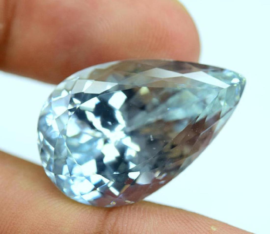 44.40 carats Pear Cut Aqua Color Natural Spodumene - 5