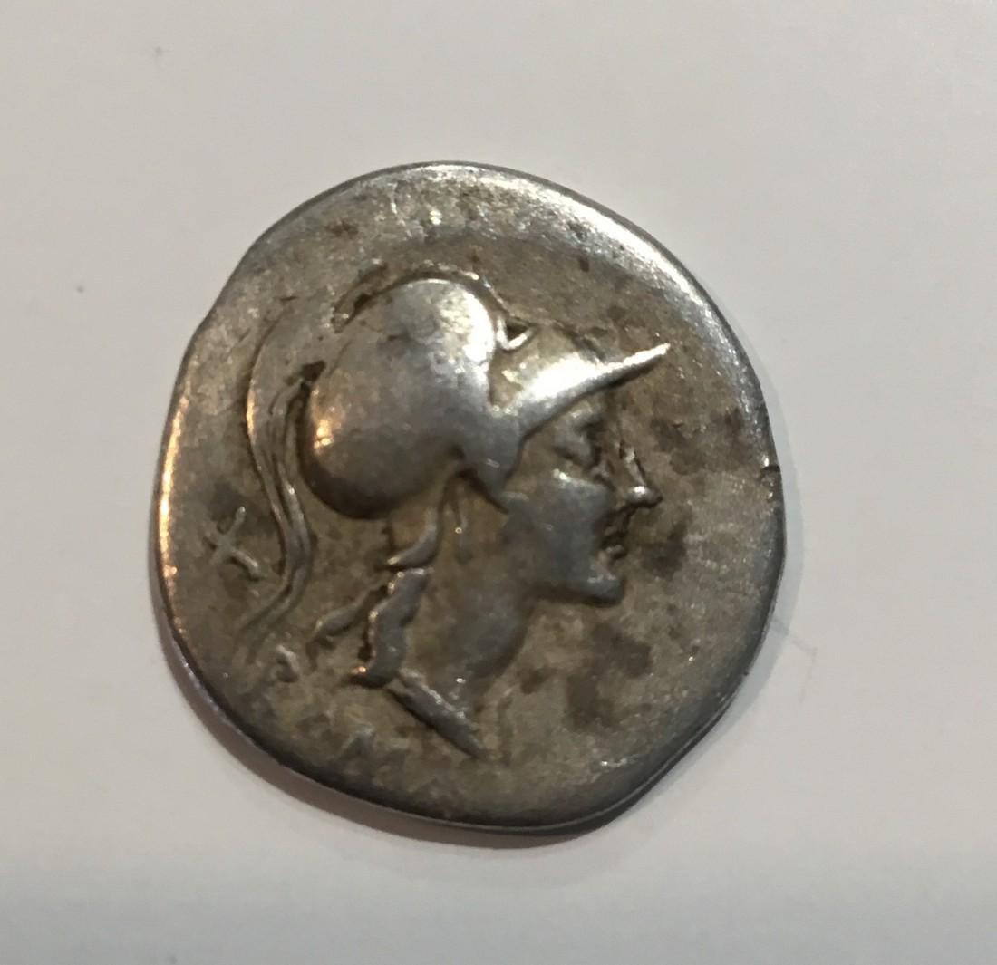 Roman republic  115/114 BC  Silver denarius  Roma/ Roma