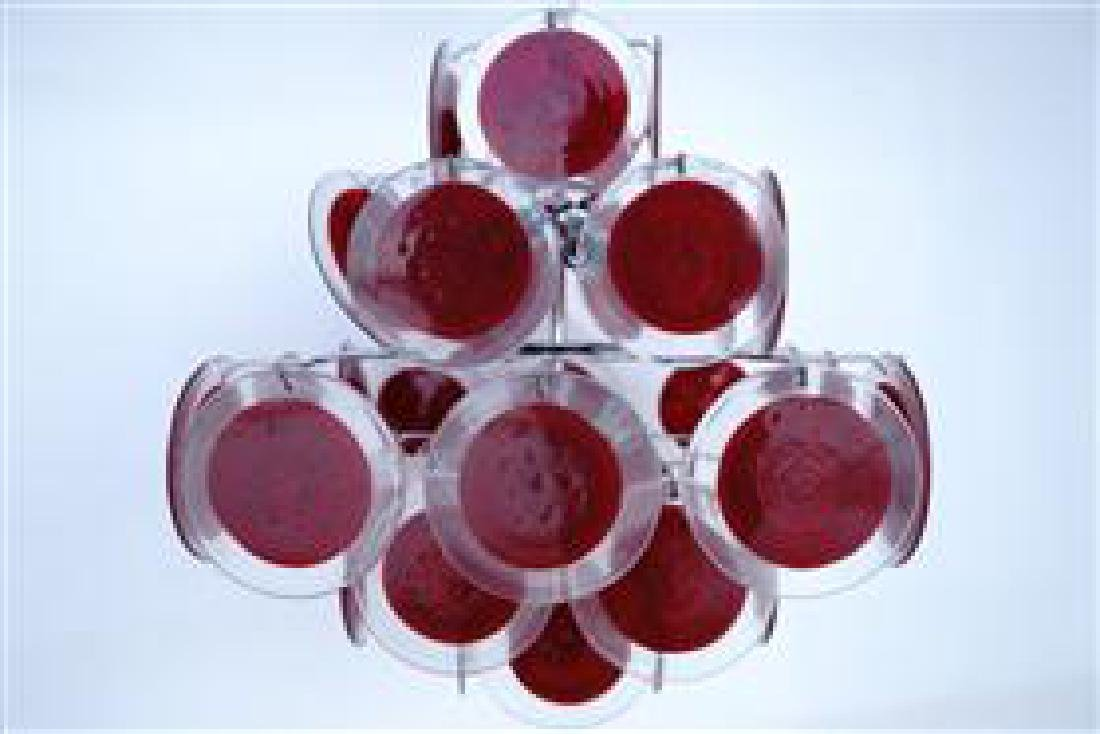 Murano 36 Disk Coral Red