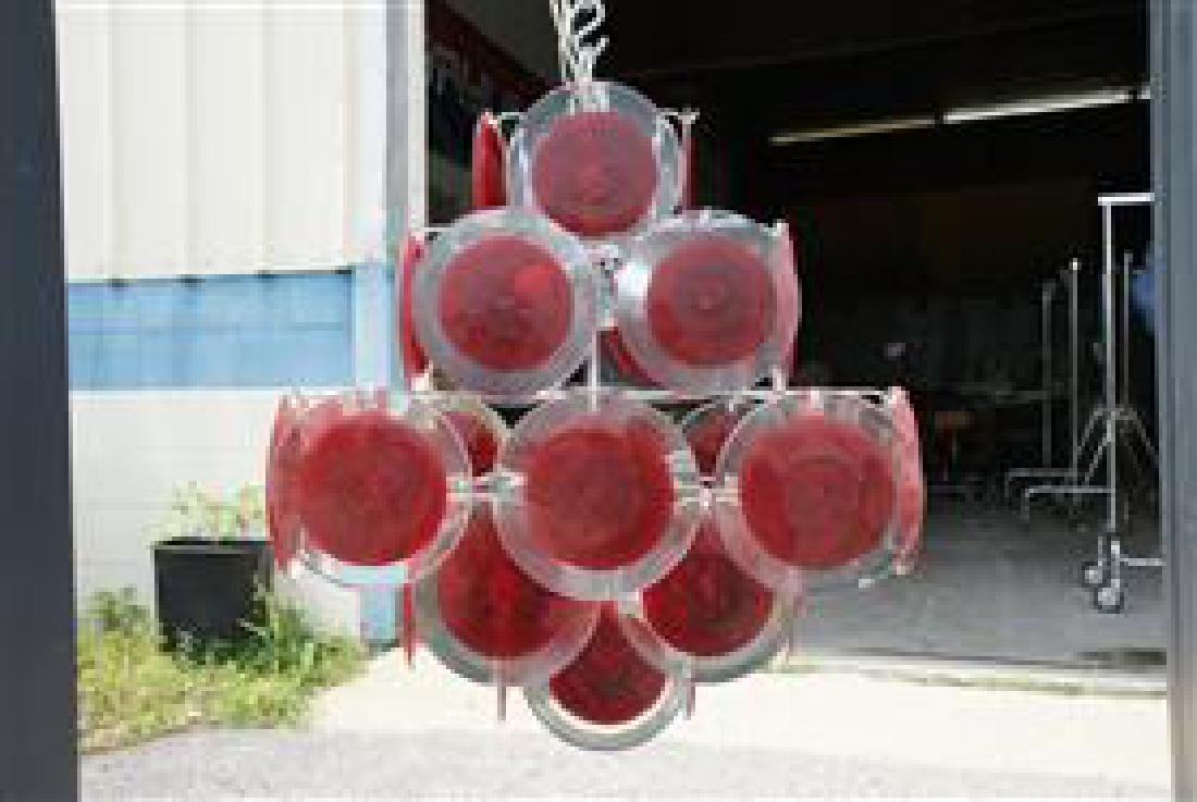 Murano 36 Disk Coral Red - 4