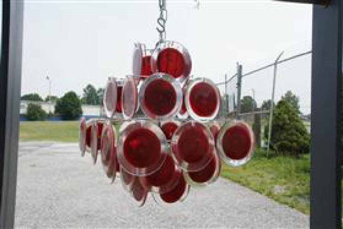 Murano 36 Disk Coral Red - 5