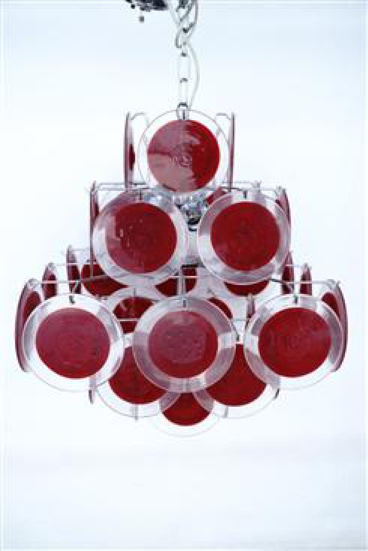 Murano 36 Disk Coral Red - 6