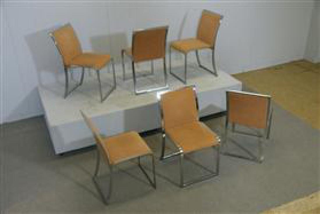 6 Dining Chairs by Saporiti - 7