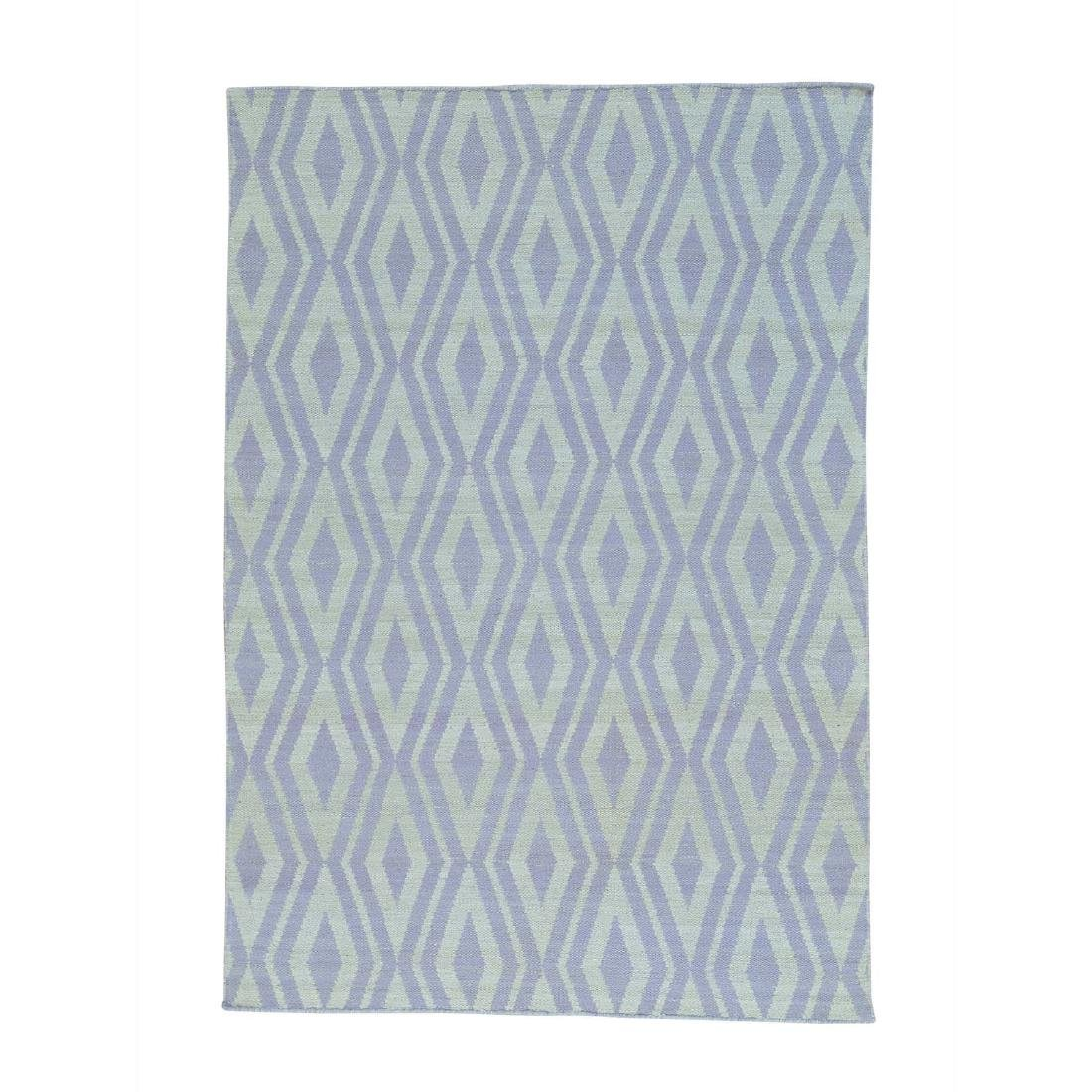 Ivory Flat Weave Hand Woven Reversible Kilim Rug