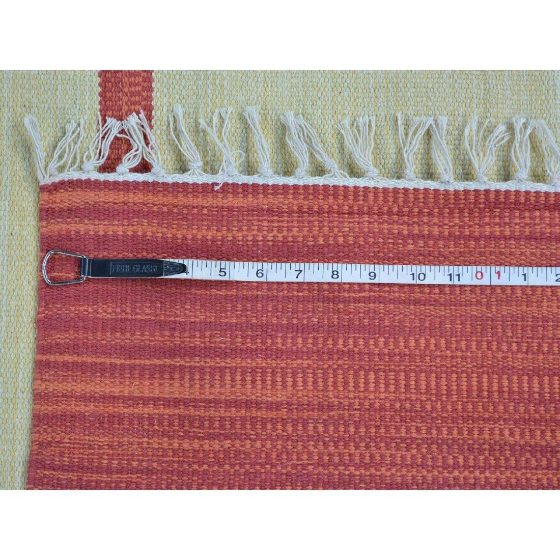 Navajo Design Hand Woven Flat Weave Killim Rug - 5
