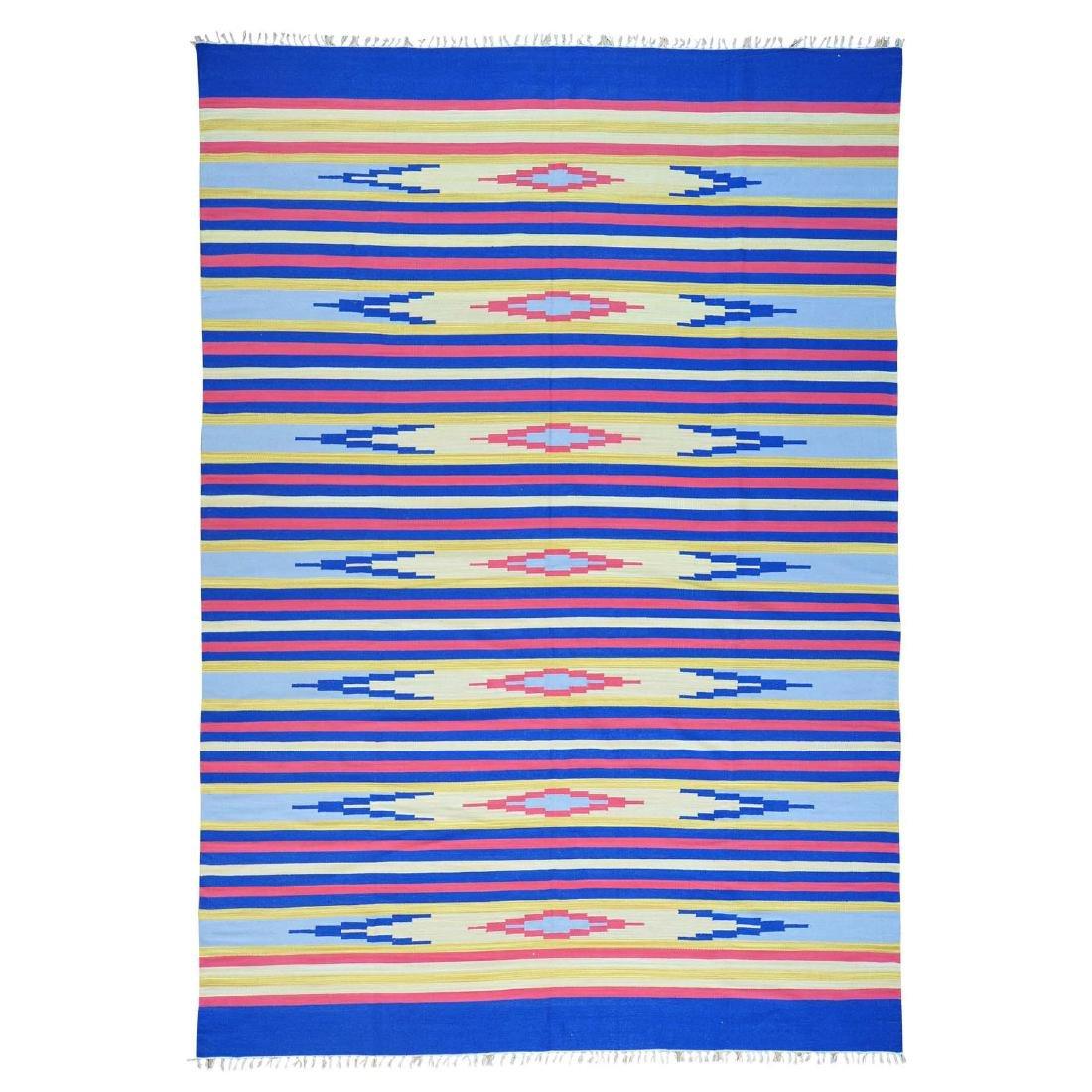 Handmade Southwestern Design Flat Weave Killim Striped
