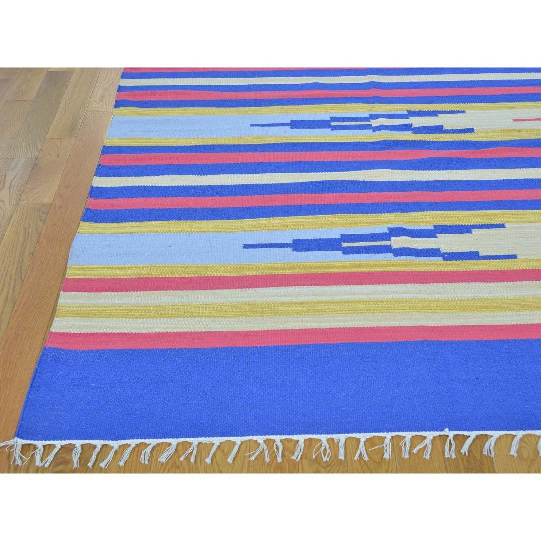 Handmade Southwestern Design Flat Weave Killim Striped - 3